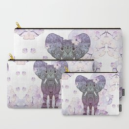 FLOWER SHOWER ELEPHANT Carry-All Pouch