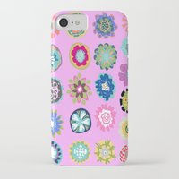 karen hallion iPhone & iPod Cases featuring Flowers Pink by Karen Fields by Karen Fields Design