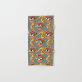 Cosmic Eye Retro 70s, 60s inspired psychedelic Hand & Bath Towel