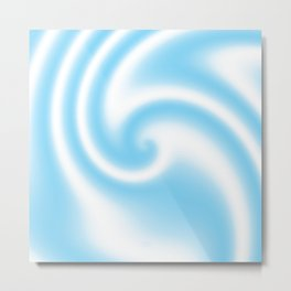 Blue Raspberry Ribbon Candy Fractal Metal Print