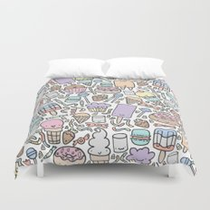 Kawaii Sweet Treats Duvet Cover