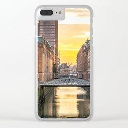 The Speicherstadt (Hamburg, Germany) Clear iPhone Case