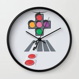 N Street Traffic Light Wall Clock