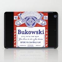 bukowski iPad Cases featuring bukowski by Mathiole