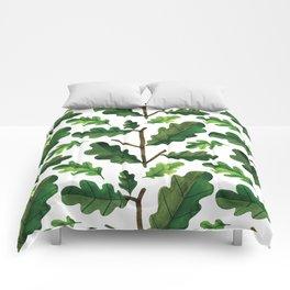 Botanic Watercolor Collection #13 - oak leaves Comforters