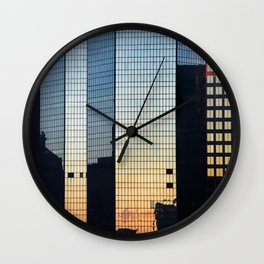 Sunset reflected III. Wall Clock
