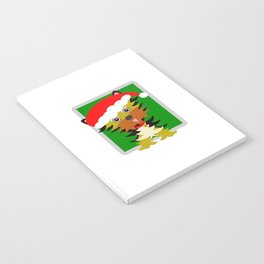 Christmas Yorkshire Terrier Cartoon Notebook