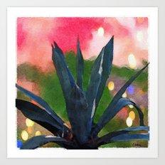 Wine Country Cactus Art Print