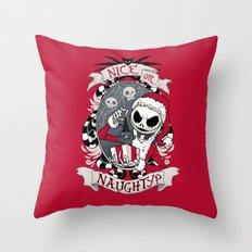 Scary Santa Throw Pillow