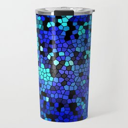 STAINED GLASS BLUES Travel Mug