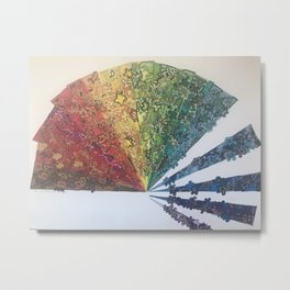 Fan Coming Apart Metal Print