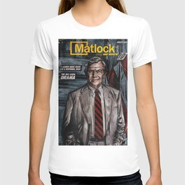 MATLOCK - TV Show Comic Poster T-shirt