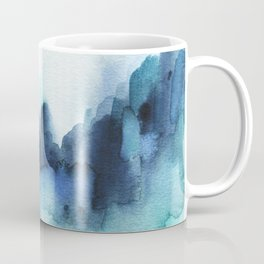 Wonderful blues Abstract watercolor Coffee Mug
