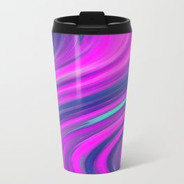 Neon Swirls Travel Mug