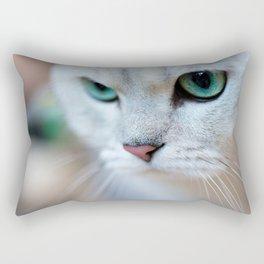 British shorthair silver shaded chinchilla cat Rectangular Pillow