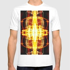 CHASING LIGHTS MEDIUM Mens Fitted Tee White