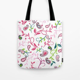 Paisley sroll pattern Tote Bag