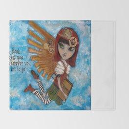Renee the Book Fairy (Creepy Cutie Series) Throw Blanket