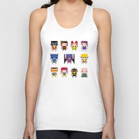x men Tank Tops featuring Pixel X-Men by PixelPower