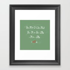 Math love Framed Art Print