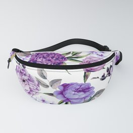 Elegant Girly Violet Lilac Purple Flowers Fanny Pack