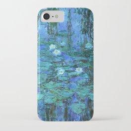 Claude Monet Water Lilies BLUE iPhone Case