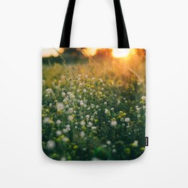 Sunset in the countryside Tote Bag