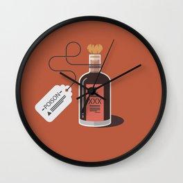 A little nip won't hurt you ! - Love is poison !  Wall Clock