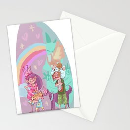 3 sisters and a dog! Stationery Cards