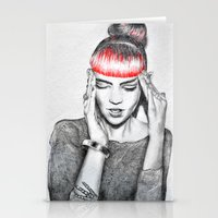 grimes Stationery Cards featuring Grimes by Eric Magnussen