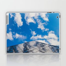 Cloud reflection in the Louvre Pyramid Laptop & iPad Skin