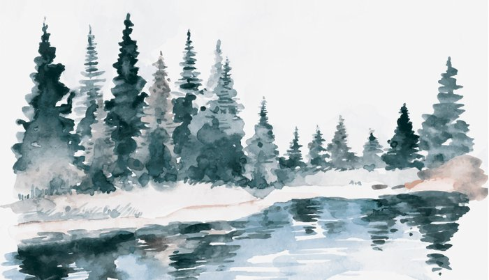 Mountain River Pillow Sham