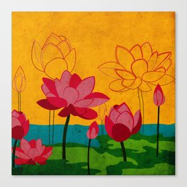 Flowers: lotus Canvas Print