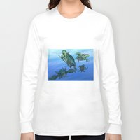 ninja turtles Long Sleeve T-shirts featuring Ninja Turtles by MrDenmac
