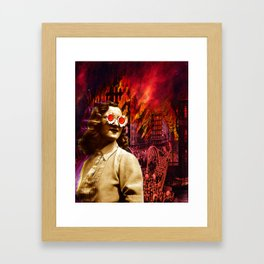 Let it burn Framed Art Print