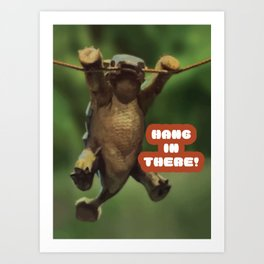 Hang In There, Bumpy Baby Ankylosaurus Cretaceous Art Print