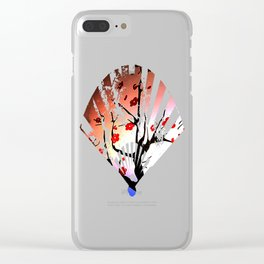 Japanese Maple Under Night Sky With Moon Clear iPhone Case