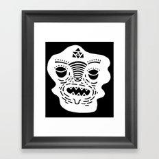 stencil face TEE invert Framed Art Print