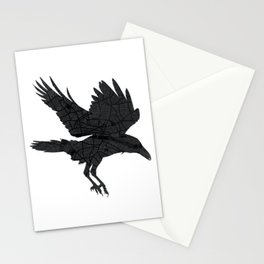 London, as the Raven Flies Stationery Cards