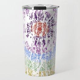 Rainbow Mandala Urban Decay Style - Vintage, Aged Pattern Travel Mug