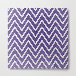 Chevron Wave Ultra Violet Metal Print
