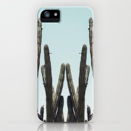 Cactus Twins iPhone Case