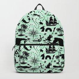 High Seas Adventure // Sea-Green Waves Backpack
