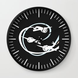 Aerobatic planes | White Vapor trails Wall Clock