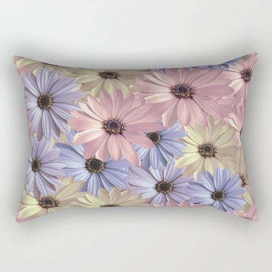 Pink Yellow Blue Rectangular Pillow