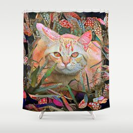 Alice's Cat Shower Curtain