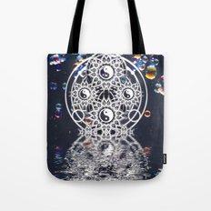 Yin Yang Symmetry Balance Reflection Tote Bag