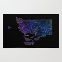 sagan Area & Throw Rugs featuring Rhode Island StarStuff by Yespo Designs