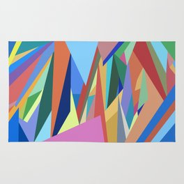 Colorful Triangle Pattern Rug