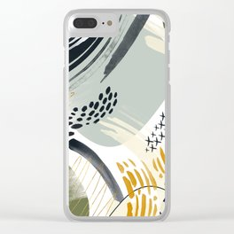 Abstract autumn season Clear iPhone Case
